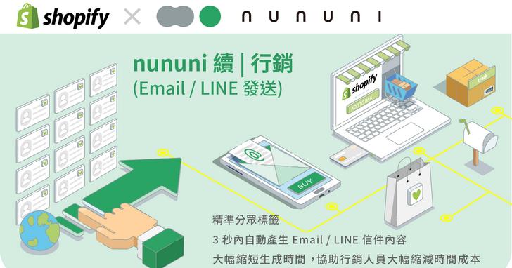 打造個人化行銷信,台灣團隊開發nununi AI技術於日本Shopify上線