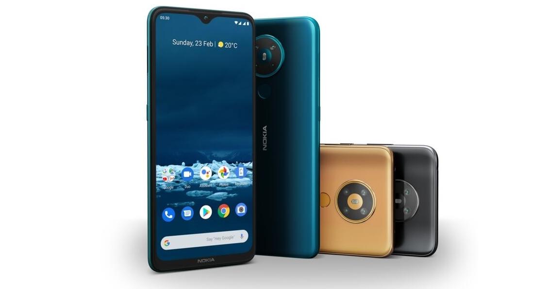 Nokia 5.3 月底上市,主打大螢幕、大電量、四鏡頭,售價不到 6,000 元