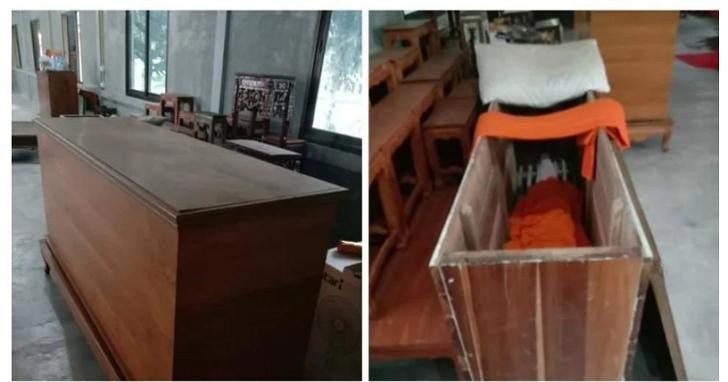 超前部署?泰國大叔被強制到寺廟隔離檢疫,房內竟然有「一口棺材」?