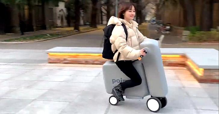 東京大學研發充氣摺疊電動自行車Poimo,不用時直接可以放進背包