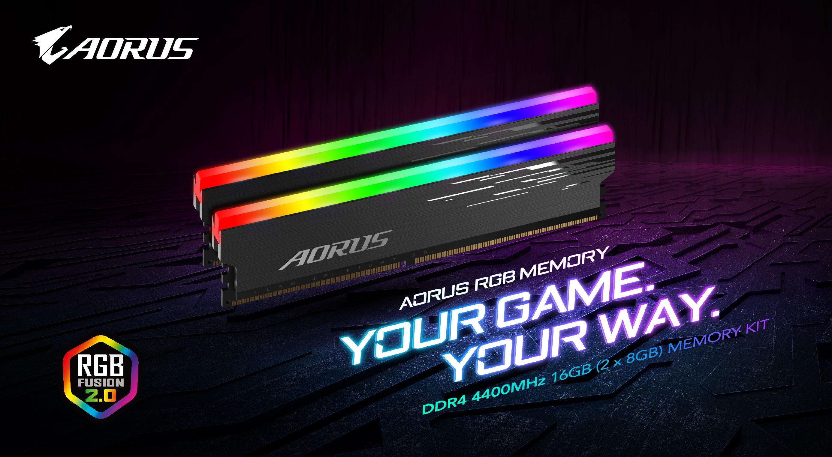 效能再提升 技嘉推出AORUS RGB DDR4 4400MHz記憶體