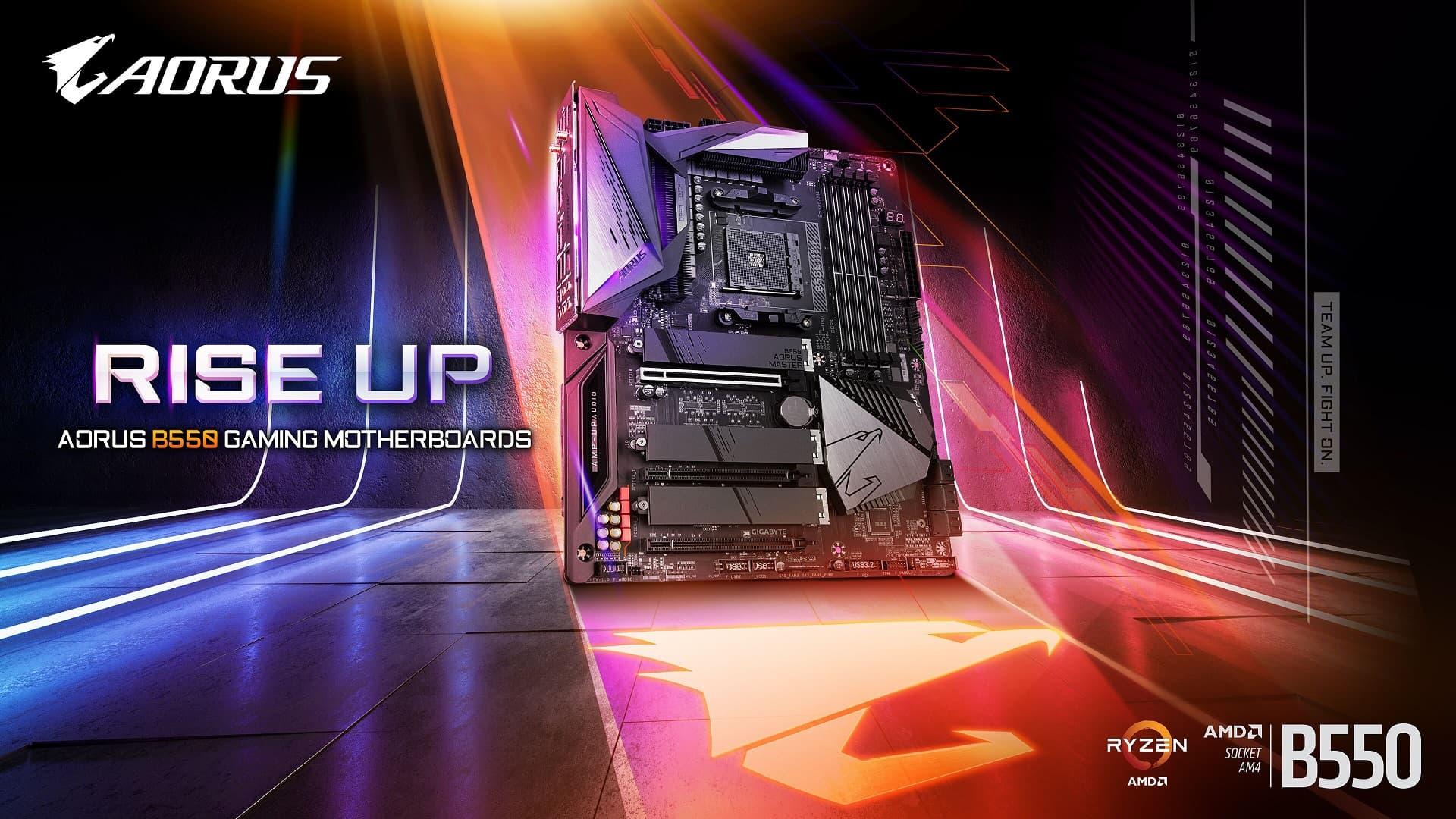 技嘉推出最新AMD B550 AORUS系列主機板