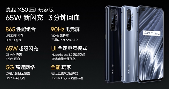 realme X50 Pro 玩家版在中國發表,挑戰最便宜 S865 旗艦,售價約台幣 13,500 元起