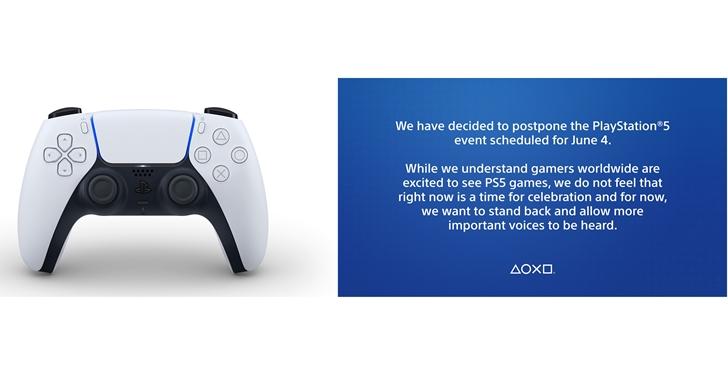 PS 玩家恐得再等等!Sony 宣布延後舉辦 PS5 發表會,全力聲援美國反警暴