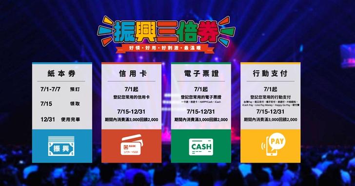 振興三倍券官網正式上線,有哪些信用卡、電子票證、行動支付業者參與以及回饋優惠一次看完!