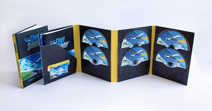 《微軟模擬飛行 2020 》Microsoft Flight Simulator 實體版用上 10 張 DVD,但收藏光碟是一種情懷