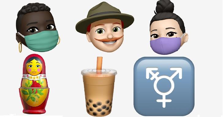 世界表情符號日,蘋果預告 iOS 14 有珍奶、跨性別符號、口罩一系列實用貼圖