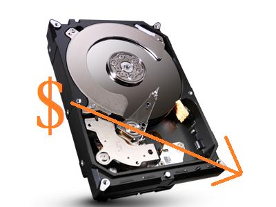 硬碟價格漲勢 hold 不住,價格開始鬆動下滑