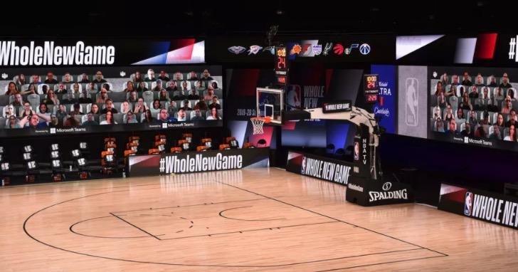球賽無觀眾太悶!NBA聯手Microsoft Teams將球迷帶回場邊