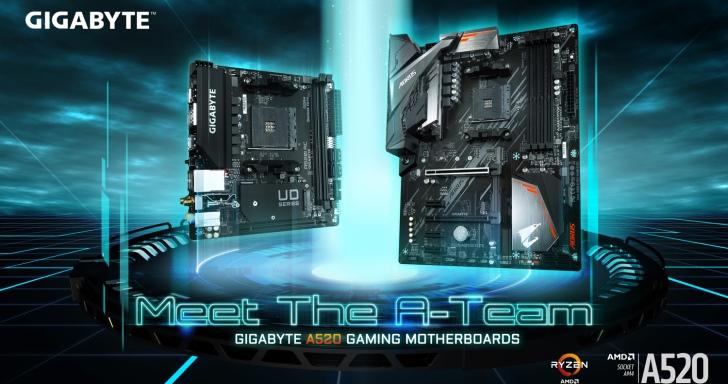 AMD A520晶片組解禁,GIGABYTE帶來A520 AORUS Elite等多款主機板