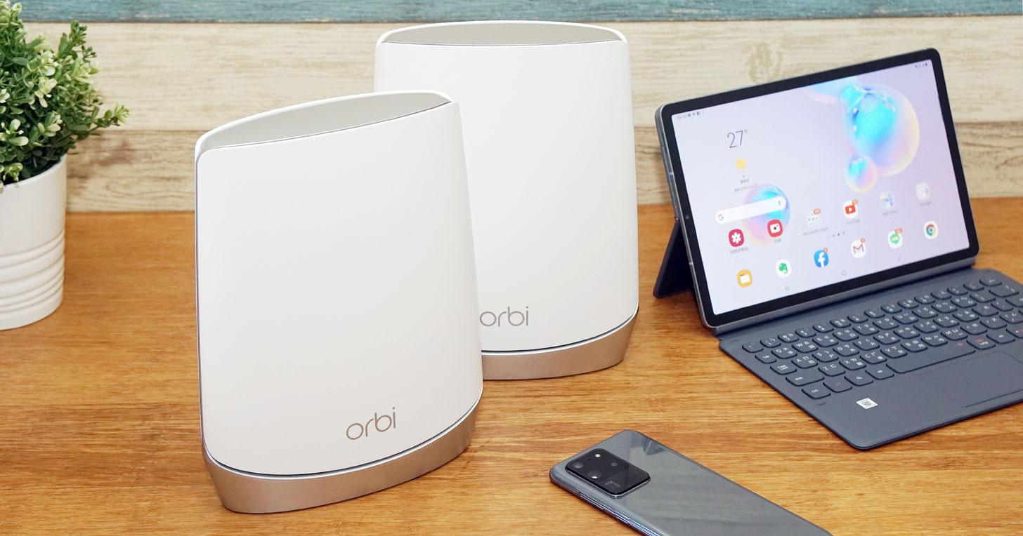零死角收訊與優異網速一次滿足:NETGEAR Orbi AX4200 三頻 Wi-Fi 6 Mesh 延伸系統(RBK752)開箱與深度評測!