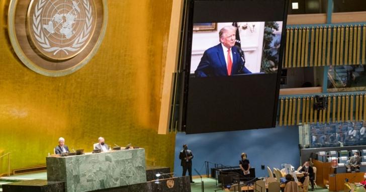 川普在聯合國大會指中國及中國掌控的WHO要為「中國病毒」的擴散負責