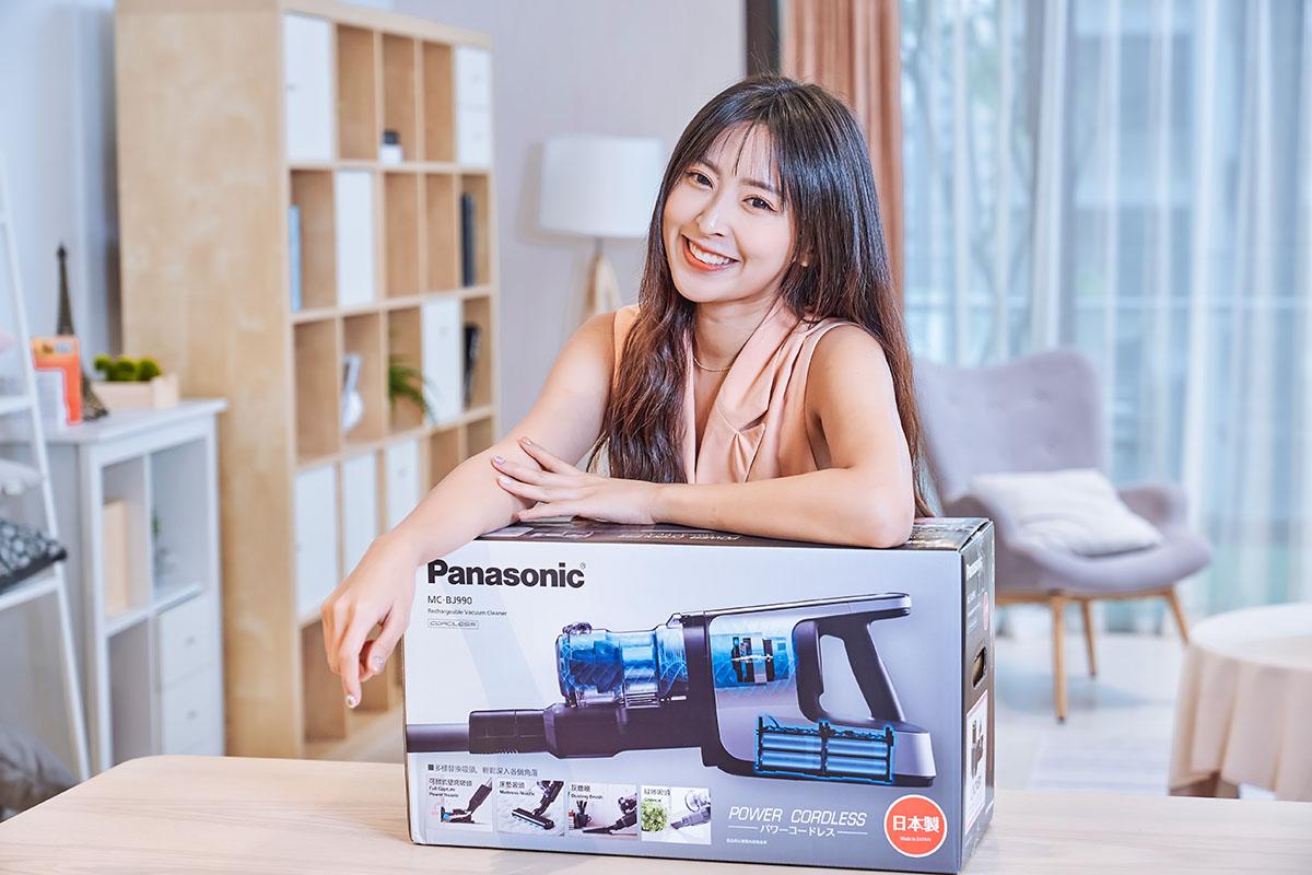 220W 大吸力+微塵感知,讓髒污無所遁形!大電量 Panasonic 日本製無線吸塵器 MC-BJ990 開箱實測