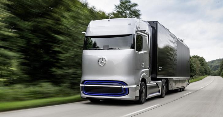 M-BENZ 燃料電池概念卡車 GenH2 truck,續航里程高達 1,000 公里!