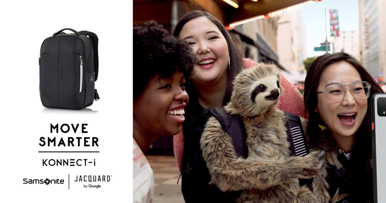 不只是後背包 !  Samsonite跨界攜手科技巨擘Google,推出智能後背包KONNECT-i 讓你在行進間,隨時連接時尚科技新生活!
