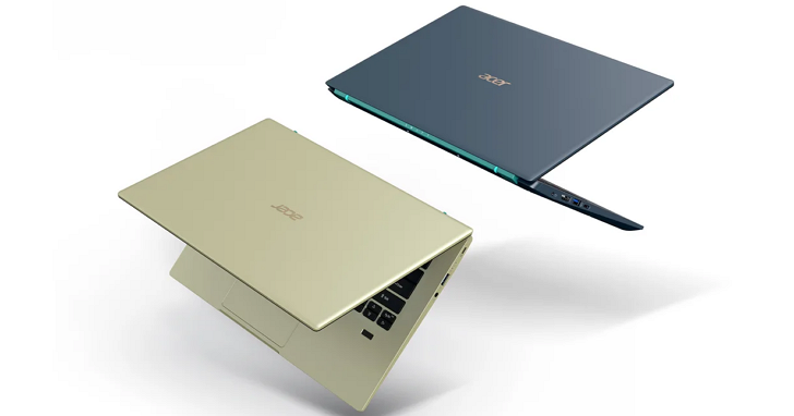 Acer 新款 Swift、Spin、Aspire 筆電,配備 Intel 第 11 代 Core 處理器登場