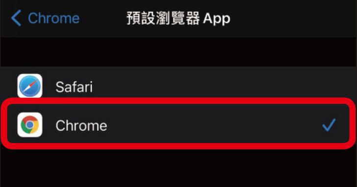 如何將iPhone預設瀏覽器改為Chrome?