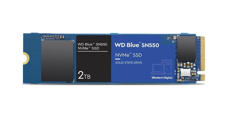 Western Digital 推出全新 NVMe SSD 解決方案,藍標 SN550 NVMe SSD 2TB 版本建議售價僅 7,990 元