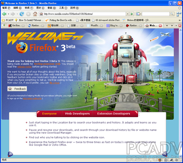 Firefox 3.0 Beta 5上線