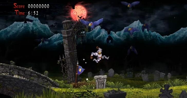 卡普空重啟版魔界村「經典回歸 魔界村」預告釋出,大叔騎士亞瑟又來打鬼啦!