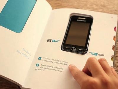 真正的手機說明書!手機就是書的一部份,裝好就能用