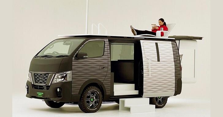 與其開車上班,不如把車子變成辦公室!Nissan 改裝了一款「行動辦公概念車」