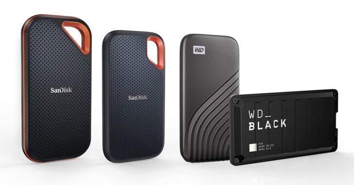 容量再升級!Western Digital 旗下 4 款行動 SSD 產品線,三月中將推出 4TB 大容量版本