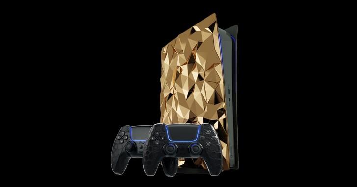 買不到 PS5 嗎?或許你可以考慮這台鑲金的 PS5,一台要價台幣 1400 萬