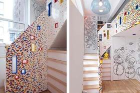 用樂高 Lego 積木裝潢,2萬片樂高打造溫馨公寓