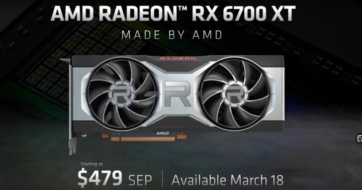 AMD Radeon RX 6700 XT新卡報到,瞄準2K解析度遊戲應用