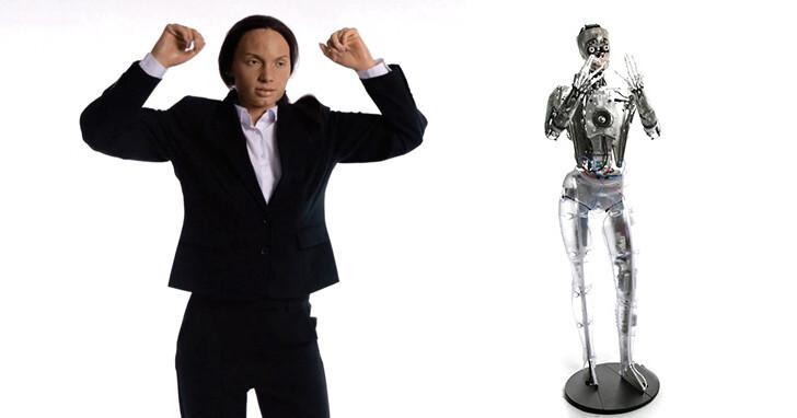 超逼真機器人!閉眼、聳肩、手臂搖晃、搖頭、皺眉表情手勢豐富流暢!