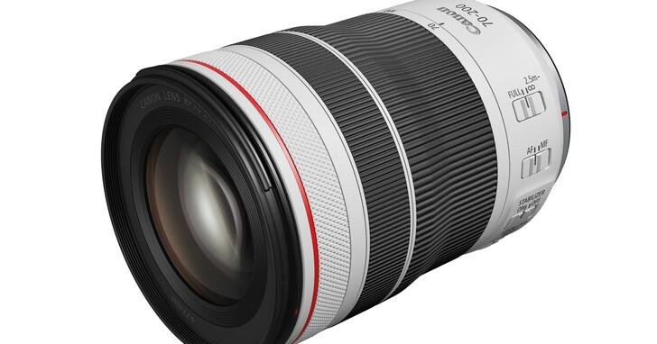 Canon 發表同級最短且最輕巧 RF 70-200mm f/4L IS USM 望遠變焦鏡,售價 47,300 元
