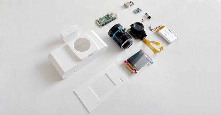 用樹莓派為女朋友做了個復古相機,成本不用台幣3000元