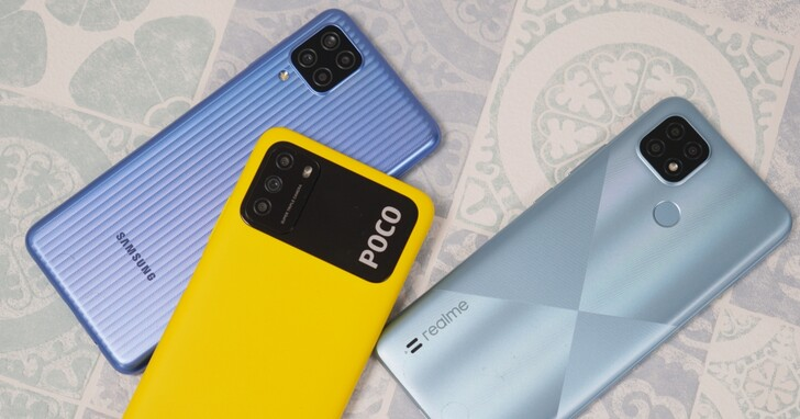 2021 入門手機評比,全都不到台幣五千元!POCO M3、realme C21、Galaxy M12 激安測試