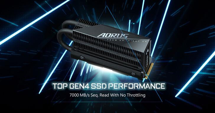 高速低溫新選擇 技嘉AORUS Gen4 7000s Prem. SSD固態硬碟上市