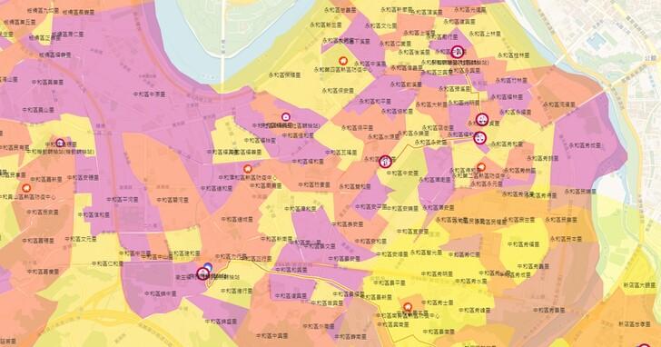 「新北災訊E點通」網站上線,熱區分布、篩檢站位置一目瞭然