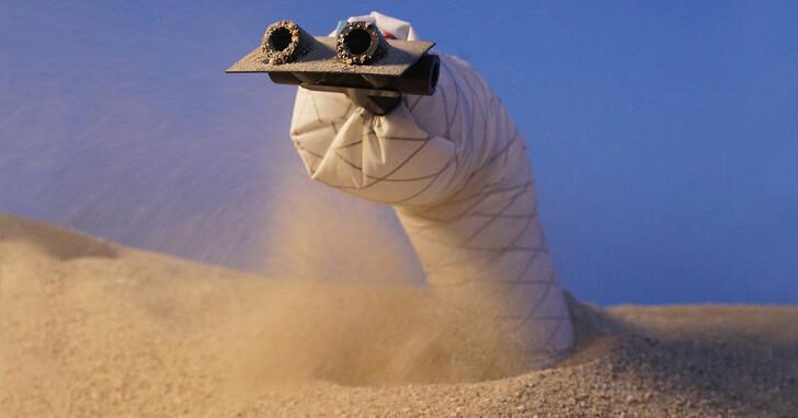 用氣流在地下穿梭挖洞的軟體機器人,挖掘速度每秒 4.8 公尺根本「從地心竄出」