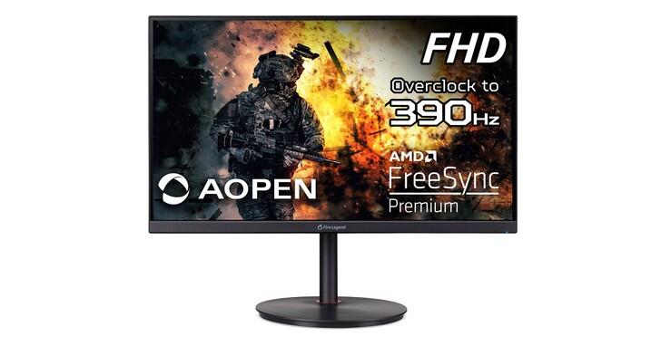 AOPEN 推出全新 Fire Legend XV1 與 XV2 系列電競顯示器,最高支援 390Hz 更新率