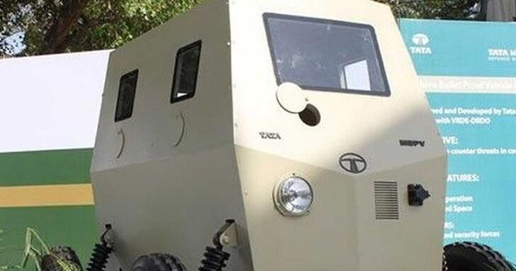 雖然很可愛但是能防彈,Tata Motor 推出室內攻堅專用防彈載具