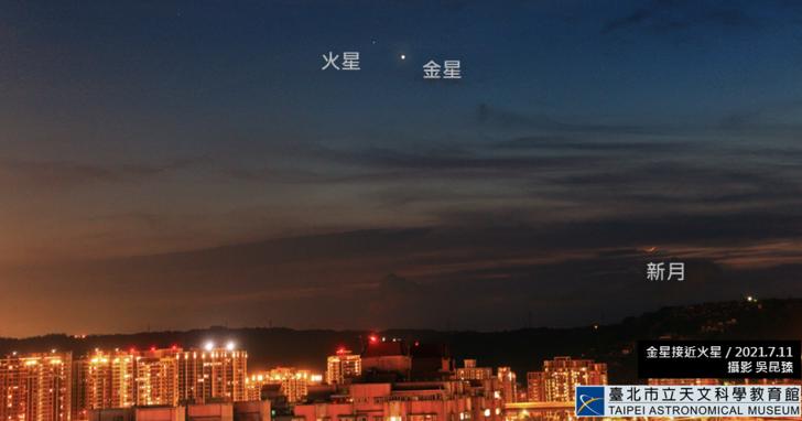 今天下午 3 點記得抬頭看看「火星合金星」,角距離僅 0.49 度