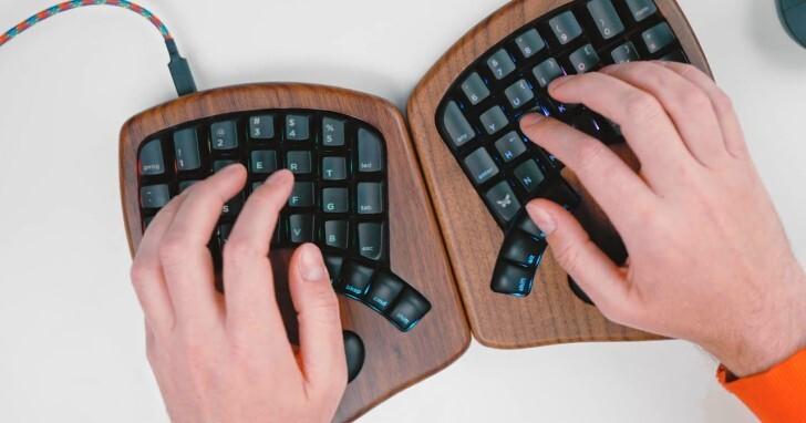 木質人體工學鍵盤Keyboardio Model 100,有RGB還可自行換軸