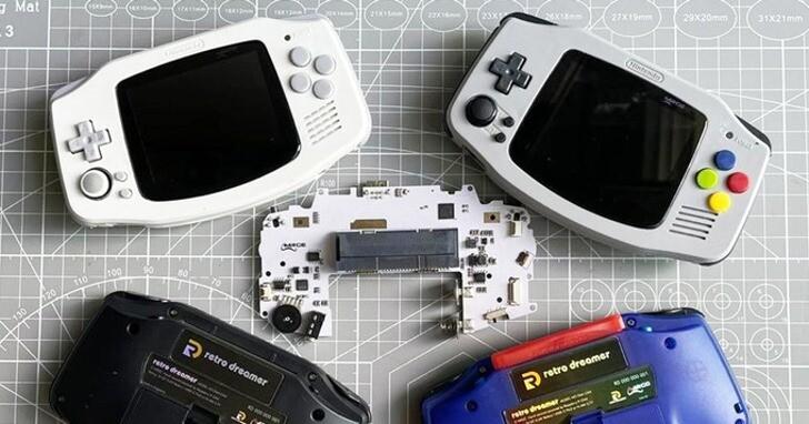 Retro Dreamer G4A土砲套件,自己做可以玩DC遊戲的GBA遊戲機