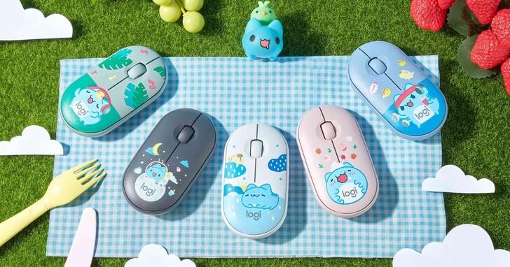 Logitech X 貓貓蟲咖波聯名推出無線滑鼠鍵盤