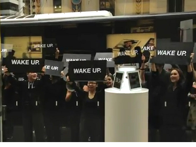 被誤會的 Samsung ,澳洲「WAKE UP」快閃活動主謀指向 RIM ?