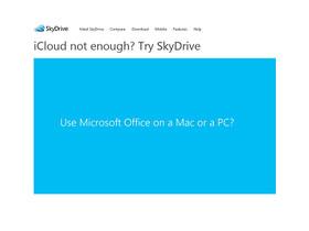 微軟嗆聲:iCloud 不夠用,SkyDrive 給你 3個跳槽的理由
