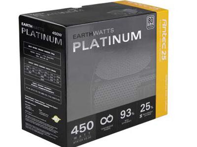Antec EarthWatts Platinum 450W:小瓦數也有白金認證