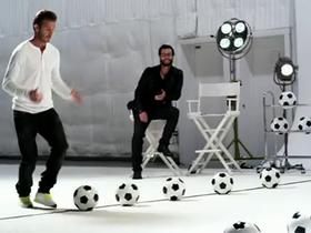 貝克漢玩創意 Galaxy Note 廣告,為奧運獻上「球鼓」表演