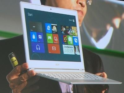 Computex 2012:Acer 發表六款 Windows 8 觸控平板、Ultrabook、AIO
