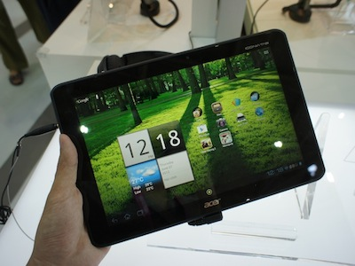 Computex 2012:Acer 數款 Android 4.0 + Tegra 3 平板電腦動手玩