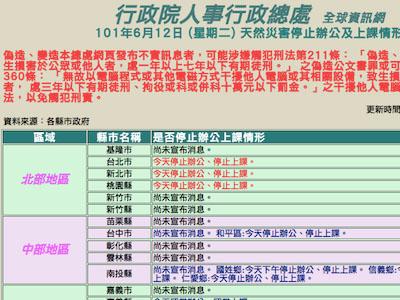 台北市政府網站掛掉,豪雨停班停課消息靠媒體,你是怎麼知道的?